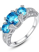 cheap Women's Lingerie-Women's Turquoise Crystal Cubic Zirconia Vintage Style Stylish Band Ring Engagement Ring - Sterling Silver Vintage, Elegant 6 / 7 / 8 / 9 Silver / Red / Turquoise For Wedding Engagement Ceremony