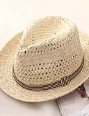 baratos Chapéu Masculino-Homens Básico / Férias De Palha Estampa Colorida