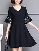 povoljno Ženske haljine-Žene A kroj Haljina V izrez Midi