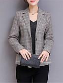 povoljno Sakoi-Žene Dnevno Osnovni Normalne dužine Sako, Jednobojni Kragna košulje Dugih rukava Poliester Sive boje