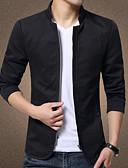 זול גברים-ג'קטים ומעילים-אחיד ג'קט - בגדי ריקוד גברים כותנה / פשתן / שרוולים קצרים