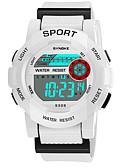 cheap Quartz Watches-SYNOKE Men's Women's Sport Watch Digital Watch Digital 50 m Water Resistant / Water Proof Calendar / date / day Chronograph PU Band Digital Fashion Black / White / Pink - Yellow Pink Light Blue