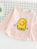 povoljno Kompletići za djevojčice-Dijete koje je tek prohodalo Djevojčice Print Dugih rukava Majica s kratkim rukavima