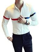 זול סוודרים וקרדיגנים לגברים-קולור בלוק צווארון קלאסי רזה חולצה - בגדי ריקוד גברים / שרוול ארוך