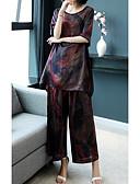 ieftine Costum Damă Două Bucăți-Pentru femei Ieșire Set - Geometric, Pantaloni În U