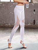 billige Bikinier og damemote 2017-Dame See Through Yogabukser - Hvit, Svart, Akvamarin sport Mote Spandex Tights / Leggings Løp, Trening, Dans Sportsklær Pustende, 4-veis strøk Høy Elastisitet