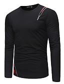 ieftine Maieu & Tricouri Bărbați-Bărbați Rotund - Mărime Plus Size Tricou Muncă De Bază / Șic Stradă - Mată / Bloc Culoare Peteci / Manșon Lung