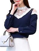 ieftine Bluză-Pentru femei Stand Bluză Geometric