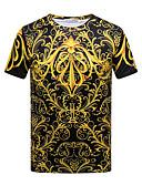 ieftine Maieu & Tricouri Bărbați-Bărbați Tricou Vintage - Mată Franjuri Alb negru