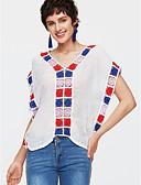 ieftine Tricou-Pentru femei Tricou De Bază - Mată / Floral