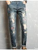 ieftine Pantaloni Bărbați si Pantaloni Scurți-Bărbați De Bază / Șic Stradă Blugi Pantaloni Scrisă