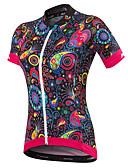 cheap Men's Underwear & Socks-Malciklo Women's Short Sleeve Cycling Jersey - Black British / Floral / Botanical Bike Jersey, Quick Dry, Anatomic Design, Ultraviolet Resistant Spandex, Coolmax® / Breathable / Stretchy / Breathable
