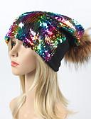 economico Cappelli da donna-Per donna Con lustrini, Vintage / Essenziale A falda larga - Cotone Arcobaleno / Autunno / Inverno