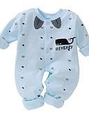 זול אוברולים טריים לתינוקות לבנים-מקשה אחת One-pieces כותנה שרוול ארוך דפוס בסיסי בנים תִינוֹק