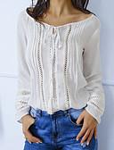 preiswerte Bluse-Damen Solide Baumwolle T-shirt Weiß M