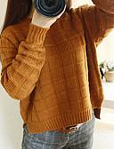 olcso Női pulóverek-Női Alap Pulóver Egyszínű