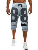 ieftine Pantaloni Bărbați si Pantaloni Scurți-Bărbați De Bază Pantaloni Chinos Pantaloni Bloc Culoare / Scrisă