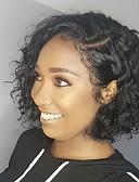 povoljno Večernje haljine-Remy kosa Lace Front Perika Bob frizura Kardashian stil Brazilska kosa Water Wave Crna Perika 130% Gustoća kose s dječjom kosom Prirodna linija za kosu Izbijeljeni čvorovi Natural Crna Žene 8-14