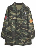 povoljno Ženski kaputi-Žene Dnevno Normalne dužine Baloner, kamuflaža Kragna košulje Dugih rukava Poliester Vojska Green M / L / XL