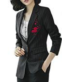 povoljno Ženski sakoi i jakne-Sako Žene-Osnovni Jednobojni Cvjetni print