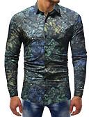 ieftine Tricou Bărbați-Bărbați Cămașă Afacere / Șic Stradă - Bloc Culoare / Animal Imprimeu