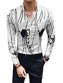 זול חולצות לגברים-קולור בלוק צווארון קלאסי רזה חולצה - בגדי ריקוד גברים / שרוול ארוך