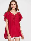 baratos Camisas Femininas-Mulheres Camiseta Moda de Rua Sólido