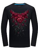 tanie Krawaty i muchy męskie-T-shirt Męskie Vintage Kwiaty