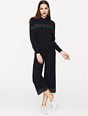 זול שמלות נשים-עם קפוצ'ון מכנס פסים - סוודר בגדי ריקוד נשים / אביב