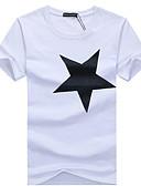 お買い得  メンズTシャツ&タンクトップ-男性用 Tシャツ ラウンドネック 幾何学模様 ブラック XXXL / 半袖