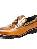 ieftine Cămașă-Bărbați Pantofi de confort PU Toamnă Casual Mocasini & Balerini Purtați Proof Negru / Galben / Franjuri