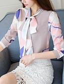 tanie Koszula-Bluzka Damskie Biznes / Moda miejska, Kokarda / Sznurowany Geometryczny Stokrotka