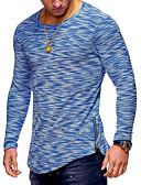 ieftine Maieu & Tricouri Bărbați-Bărbați Rotund Tricou Bumbac De Bază - Mată Peteci / Manșon Lung / Zvelt