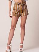 baratos Blusas Femininas-Mulheres Moda de Rua Chinos Calças - Listrado