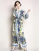 זול שמלות נשים-מידי שמלה ישרה כותנה בגדי ריקוד נשים