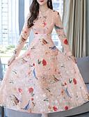 abordables Jerséis de Mujer-Mujer Sofisticado / Elegante Vaina / Corte Swing Vestido - Estampado, Floral Maxi