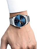 cheap Sport Watches-Men's Dress Watch Wrist Watch Quartz 30 m Calendar / date / day Chronograph Creative Stainless Steel Band Analog Luxury Elegant Black / White / Gold - White / Blue Gold / Silver / White Gold / Silver