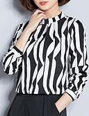 tanie Sukienki-Bluzka Damskie Moda miejska, Nadruk Wyjściowe W serek Szczupła - Geometric Shape / Kolorowy blok / Jedwab