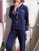 ieftine Robe & Pijamale-Pentru femei Pătrat Costume Pijamale Brodată