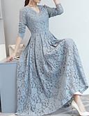 tanie Suknie i sukienki damskie-Damskie Wyjściowe Vintage / Elegancja Szczupła Linia A / Pochwa Sukienka - Solidne kolory, Koronka W serek Maxi