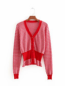 cheap Women's Sweaters-Women's Short Sleeve Cotton Cardigan - Solid Colored