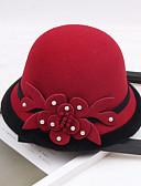 abordables Sombreros de mujer-Otros Materiales Sombreros con Perla de Imitación / Flor 1pc Boda / Fiesta / Noche Celada