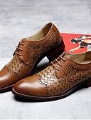 baratos Vestidos Baile Formatura-Homens Sapatos de vestir Pele Primavera / Verão Formais Oxfords Respirável Preto / Marron / Festas & Noite