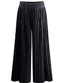 tanie Sukienki-Damskie Moda miejska Luźna Typu Chino Spodnie - Solidne kolory Niebieski