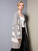 זול סוודרים לנשים-מפוצל, קולור בלוק - קרדיגן פעיל / בסיסי בגדי ריקוד נשים