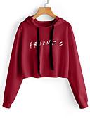 preiswerte Damen Kapuzenpullover & Sweatshirts-Damen Schlank Kapuzenshirt Buchstabe