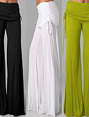 ieftine Pantaloni de Damă-Pentru femei Picior Larg Pantaloni de yoga - Albastru, Roz, Albastru Marin Închis Sport Culoare solidă Pantaloni Fitness, Dans Îmbrăcăminte de Sport Respirabil, Απαλό Strech