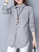 זול חולצה-פסים צווארון חולצה חולצה - בגדי ריקוד נשים