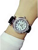 cheap Quartz Watches-Women's Wrist Watch Chronograph / Luminous / Imitation Diamond Ceramic Band Sparkle / Bangle Black / White