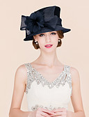 cheap Party Headpieces-Flax / Feather / Satin Fascinators / Hats with 1 Wedding / Special Occasion / Casual Headpiece